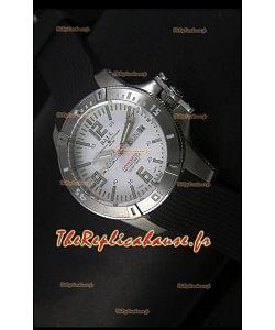 Ball Hydrocarbone Spacemaster avec bracelet en caoutchouc avec date du jour automatique sur cadran blanc - mouvement Citizen original