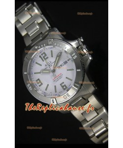 Réplique de montre automatique Ball Hydrocarbone Spacemaster sur cadran blanc avec date du jour - mouvement Citizen original