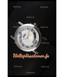 Réplique de montre suisse Brekuet en acier inoxydable 4927 Breguet avec cadran blanc