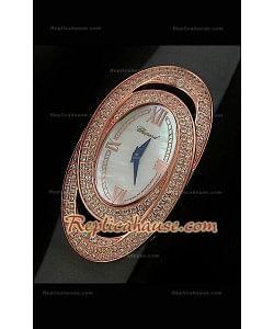 Chopard Xtravagza Rose Gold Femmes Montre avec Bracelet Gris