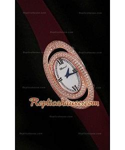 Chopard Xtravagza Rose Gold Femmes Montre avec bracelet Rouge