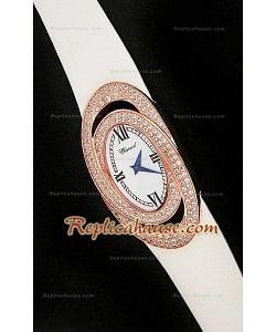 Chopard Xtravagza Rose Gold Femmes Montreavec Bracelet Blanc