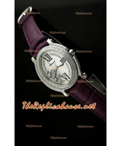 Chopard Happy Sport Femme Montre en Maroon Sangle