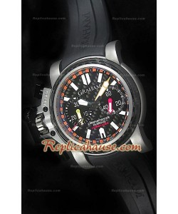 Graham Chronofighter Oversized Titanium Commander Swiss Montre