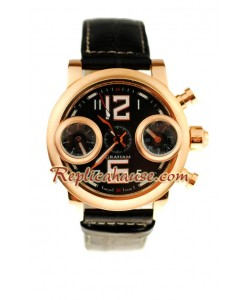 Graham Swordfish Pink d' or Montre Replique