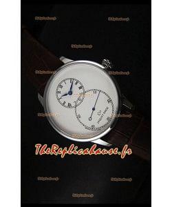 Montre avec boitier en acier inoxydable et émail ivoire Jaquet Droz Grande Seconde avec cadran blanc