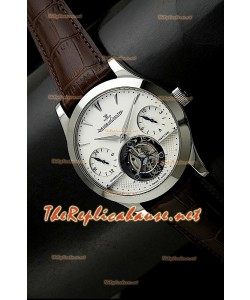 Jaeger LeCoultre Tourbillon Perpetual GMT Tourbillon Brunes Sangle Montre