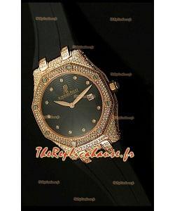 Réplique de montre Audemars Piguet Royal Oak LADY dans un boîtier en or rose