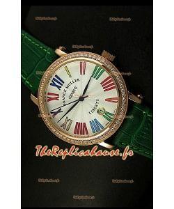 Montre japonaise Franck Muller Master of Complications Liberty sur bracelet vert