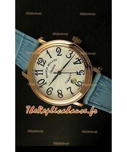 Montre japonaise Franck Muller Master of Complications Liberty sur bracelet bleu