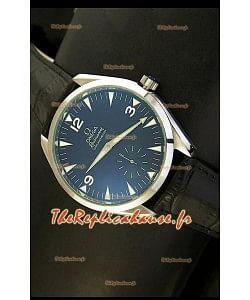 Réplique de montre japonaise Omega Seamaster Railmaster avec bracelet en cuir noir