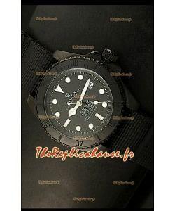 Réplique de montre suisse Édition STEALTH Rolex Submariner avec bracelet noir