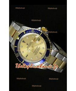Réplique de montre suisse Rolex Submariner avec cadran or - Réplique de montre miroir 1:1