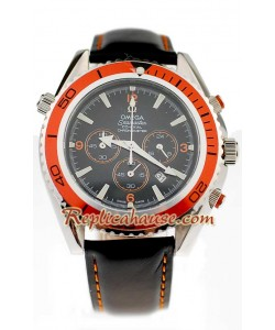 Omega Seamaster - Planet Ocean Leather Montre