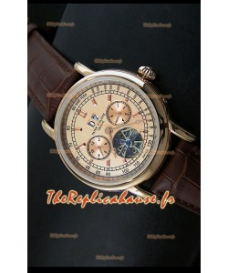 Patek Philippe Complications Tourbillon Reproduction Montre Japonaise en Acier