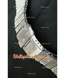 Breitling Bracelet en Acier Inoxydable 440 Poli avec Fermoir Double Fliplock