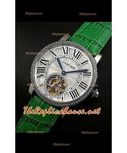 Cartier Calibre Japanese Tourbillon Montre Bracelet Vert