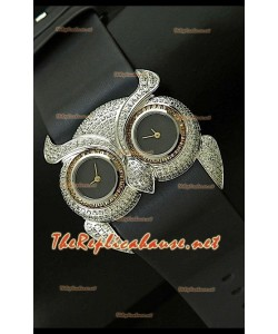 Chopard Animal World Femmes Owl Montre en Acier Inoxydable