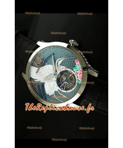 Montre Jaeger LeCoultre Porcelaine Grue Tourbillon Volant - REPRODUCTION EXACTE