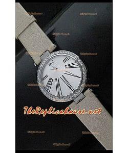 Piaget Altiplano Dial Time Swiss Quartz Montre avec Bracelet Cuir Ocre