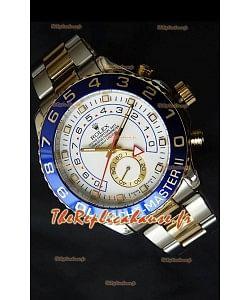 Rolex Imitation Yachtmaster II Montre Suisse Or Jaune Deux Tons- Montre Imitation Exacte 1:1