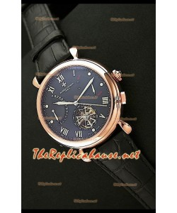 Vacheron Constantin Calender Complications Montre Cadran Noir Or Rose