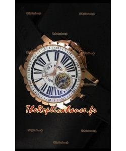 Montre Roger Dubuis Excalibur Tourbillon - Cadran blanc avec plaquage or rose
