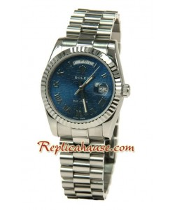 Rolex Replique Day Date-Silver Montre