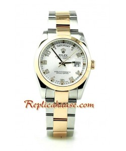 Rolex Replique Day Date Pink d' or Hommes Montre