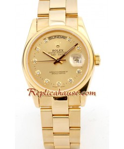 Rolex Replique Day Date-Rose d' or