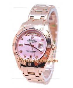Rolex Day Date Diamond Bezel and Hour Markers Or Rose Montre