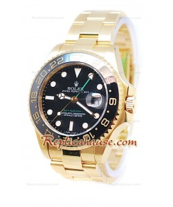 Rolex GMT Master II Or Suisse Céramique Bezel Montre De Replique