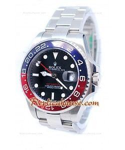 Rolex GMT Master II Suisse Bleu & Rouges Céramique Bezel Montre