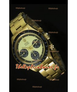 Cosmographe Rolex Daytona 6263 avec cadran blanc dans boîtier or