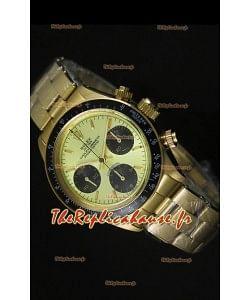 Cosmographe Rolex Daytona 6265 avec cadran métallique dans boîtier or