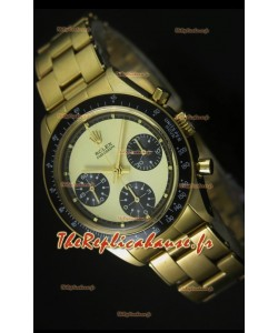 Cosmographe Rolex Daytona 6263 avec cadran or dans boîtier or