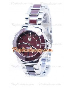 Tag Heuer Formula 1 Quartz Brown Ceramic Diamonds Bezel Montre