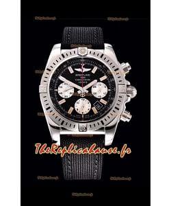 Breitling Chronomat Airbone montre réplique en cadran noir à miroir 1:1