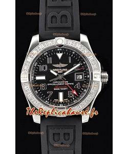 Breitling Avenger montre suisse en acier GMT 1:1 Edition ultime - cadran noir