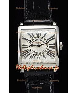 Franck Muller Master Square montre réplique suisse pour les dames à miroir 1:1 bracelet noir