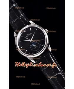Jaeger LeCoultre Maître Ultra Mince Lune montre réplique en acier inoxydable à miroir 1:1