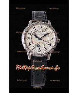 Jaeger-LeCoultre Rendez-vous nuit & jour Medium montre suisse en acier à miroir 1:1