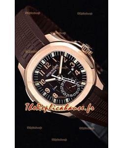 Patek Philippe Aquanaut 5164R montre à miroir 1:1 en cadran marron