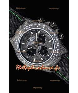 Rolex Daytona DiW montre réplique à miroir 1:1 avec boîtier forgé en carbone et bracelet vert en nylon