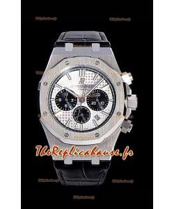 Chronographe Audemars Piguet Royal Oak Cadran blanc 904L Réplique miroir 1:1 en acier