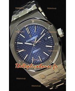 Audemars Piguet Royal Oak 41MM cadran bleu Bracelet en acier  - 1:1 Miroir Édition Ultime