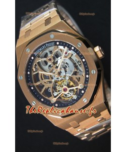 Audemars Piguet Royal Oak Tourbillon Montre Extra-Thin ajourée en Or rose
