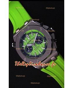 Montre Audemars Piguet Royal Oak Offshore Suisse réplique à Chronographe de plongée à quartz en Vert