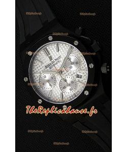 Montre Audemars Piguet Royal Oak Suisse à Chronographe Cadran argenté et Sous-Cadran Blanc Réplique