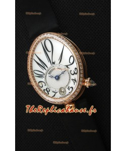 Breguet Reine De Naples Montre Femme Suisse 1:1  Or rose Montre Réplique